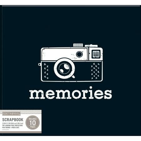 K & Company 30705449 Album simple - relier - motifs, 12 x 12 po - Noir Vintage - image 1 de 1