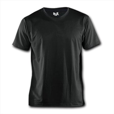 RapDom B01-PL-BLK-04 Performance Breathable T-Shirt - Black, Extra Large - image 1 of 1
