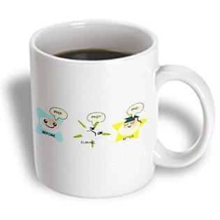 3dRose PhD funny process cartoon before during after humorous graduation gift, Ceramic Mug, 11-ounce