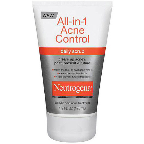 Neutrogena All-In-1 Acne Control Daily Scrub, 4.2 oz