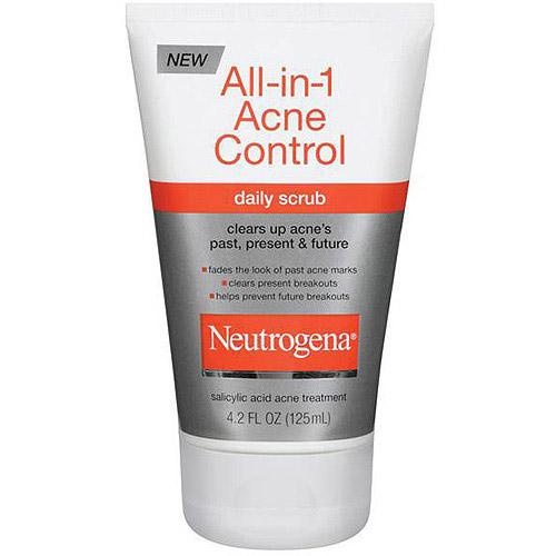 Neutrogena All-In-1 Acne Control Daily Scrub, 4.2 oz