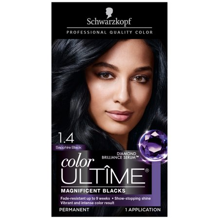 Schwarzkopf Color Ultime Permanent Hair Color Cream, 1.4 Sapphire Black