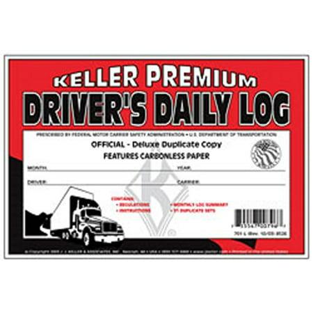 (J.J. Keller - Duplicate Driver's Daily Log Book, Carbonless, Pack of 12)