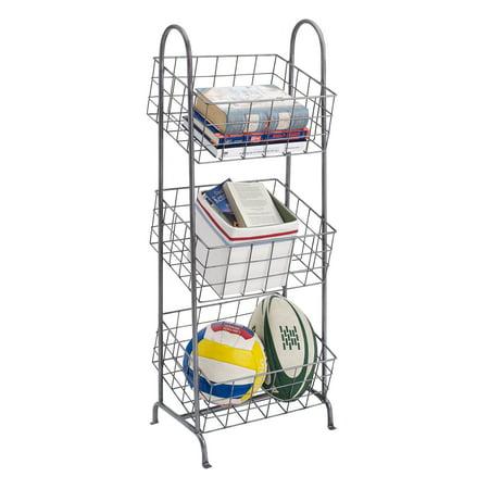 Linon Three Tier Metal Basket Stand