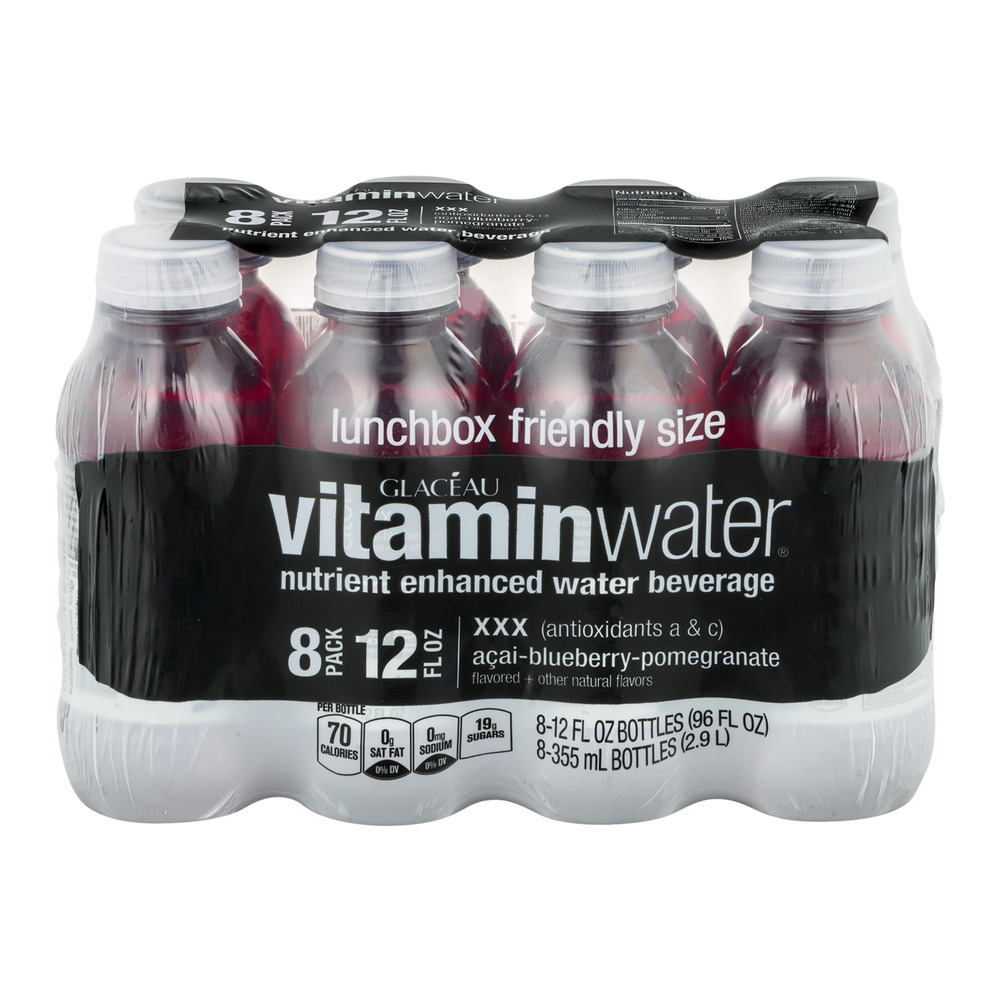 Coca Cola Vitaminwater  Water Beverage, 8 ea