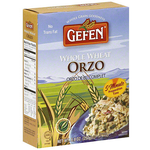 Gefen Whole Wheat Orzo, 8.8 oz (Pack of 12)