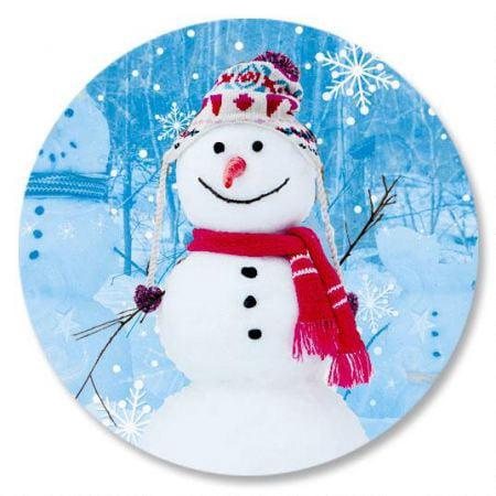 Snowman Trio Christmas Envelope Seals -Set of 144 ()