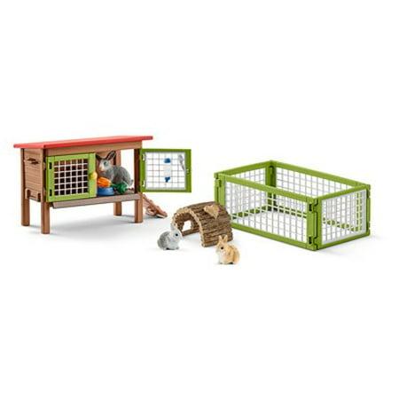Schleich Rabbit (Schleich Farmland, Rabbit with Hutch Toy)