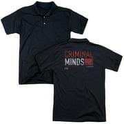 Criminal Minds/Title Card (Back Print)   Mens Regular Fit Polo   Black