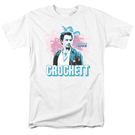 Miami Vice Crockett Mens Short Sleeve Shirt - Miami Vice Outfits
