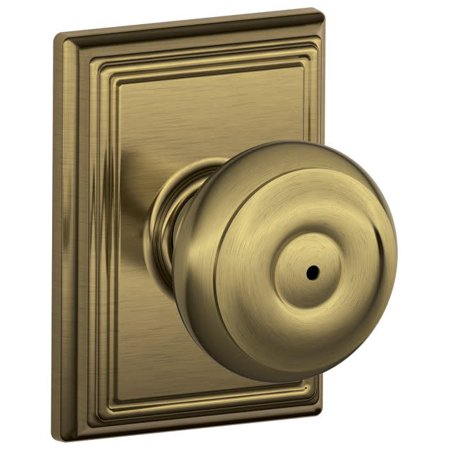 Geo 609 Entry - SCHLAGE F40 GEO 609 ADD Knob Lockset,Mechanical,Privacy,Grd. 2