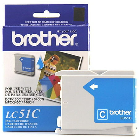 - Brother LC51C Innobella Ink, Cyan