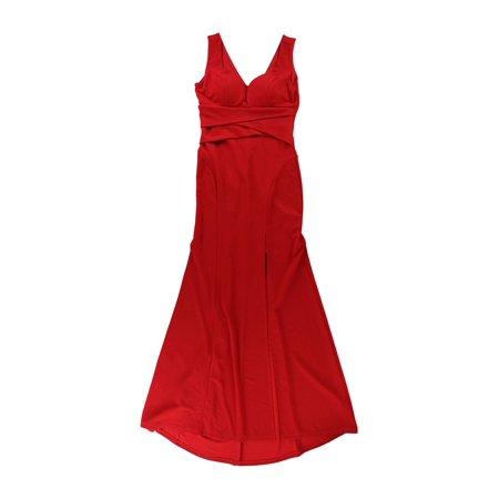 5418d592928a Emerald Sundae - Emerald Sundae Womens Sweetheart A-line Gown Dress red M -  Juniors - Walmart.com