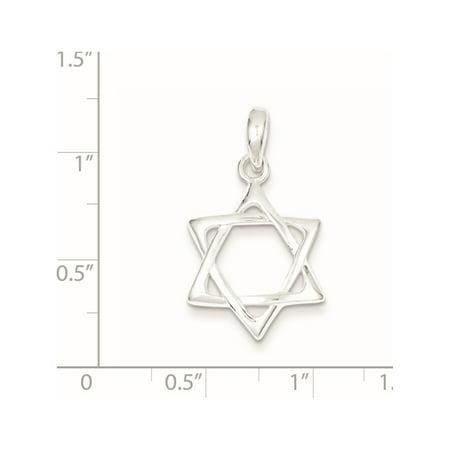 925 Sterling Silver Star of David (17x24mm) Pendant / Charm - image 1 de 2