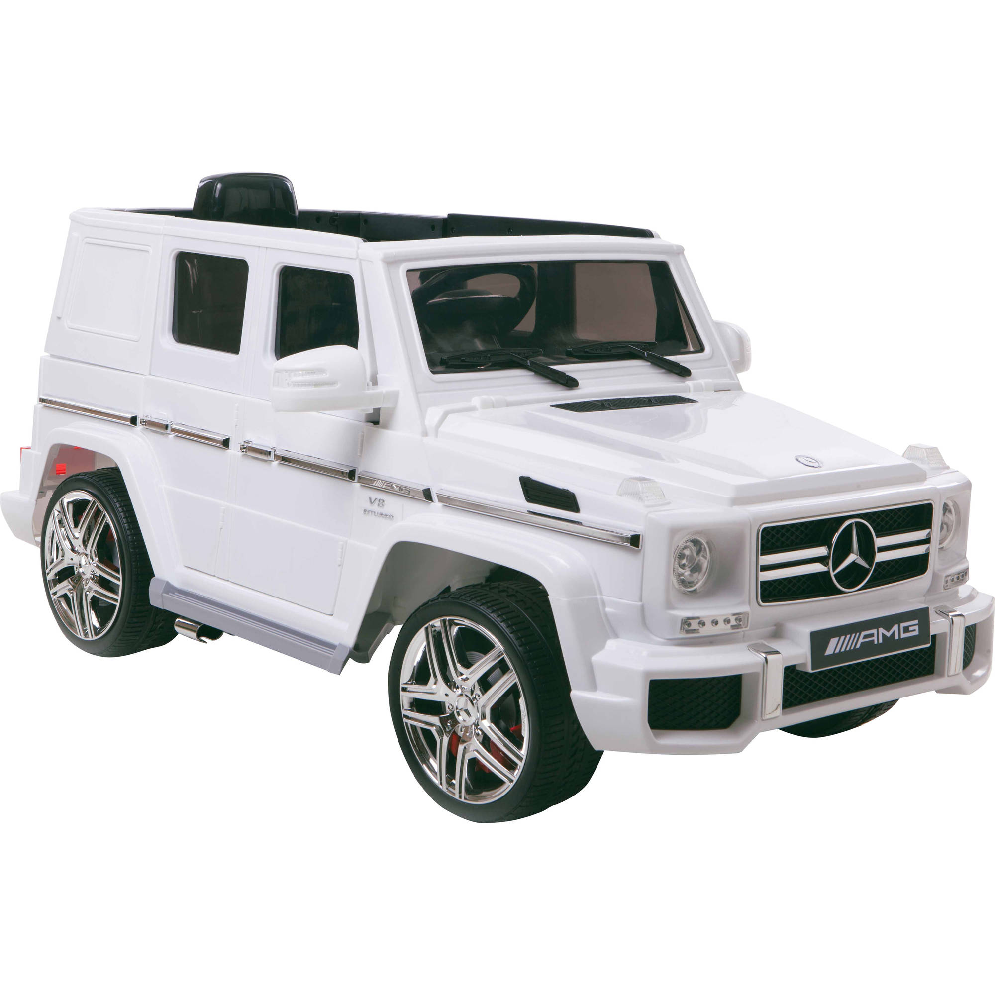 12V Mercedes Benz G63 AMG 1-Seater Battery-Powered Ride-On, White