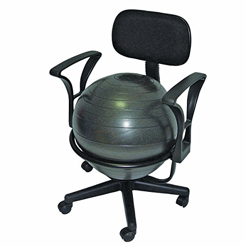 "CanDo Metal Ball Chair, 22"" with Arms"