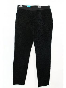 148f05ca21d Product Image INC NEW Black Velour Leopard-Print Legging Pull-On Womens Size  0 Pants  69