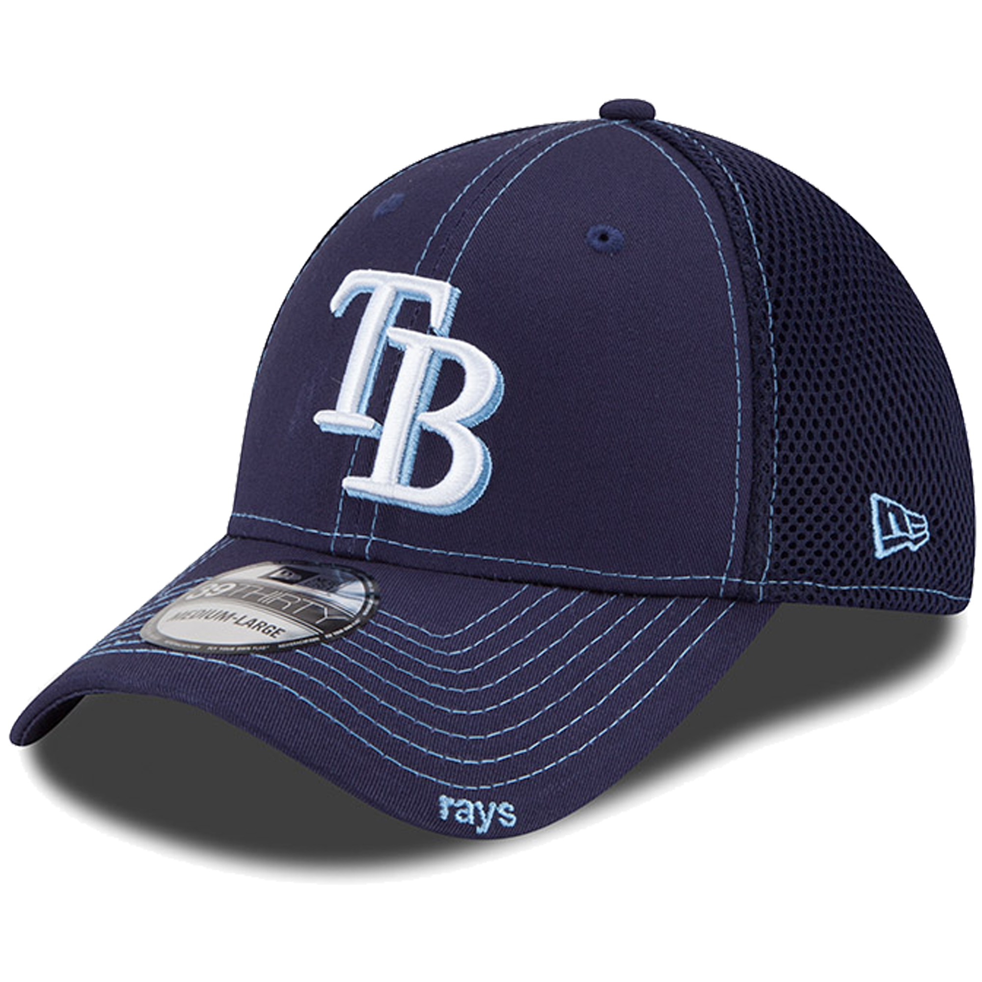 New Era Tampa Bay Rays Navy Blue Neo 39THIRTY Stretch Fit Hat
