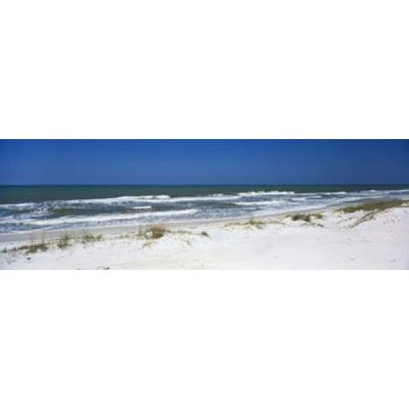 Surf on the beach St Joseph Peninsula State Park Florida USA Canvas Art - Panoramic Images (18 x 6) ()