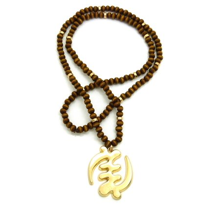 Adinkra Symbol Gye Nyame Pendant with 6mm 30
