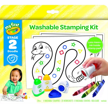 Crayola My First Washable Stamps And Crayons, Activity Set, Gift (From Wax To Crayon)