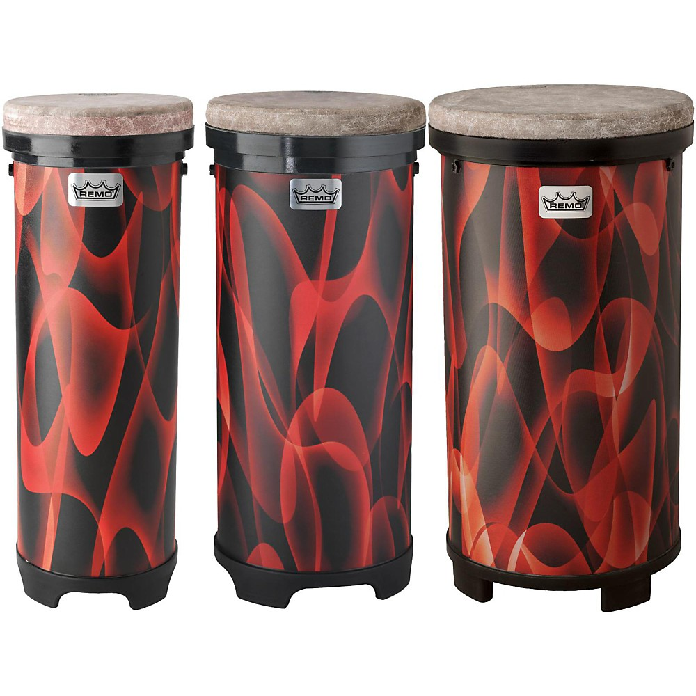 Remo Versa Drum Tubano Tall Nested Pack Orange 9, 11, 13 in.