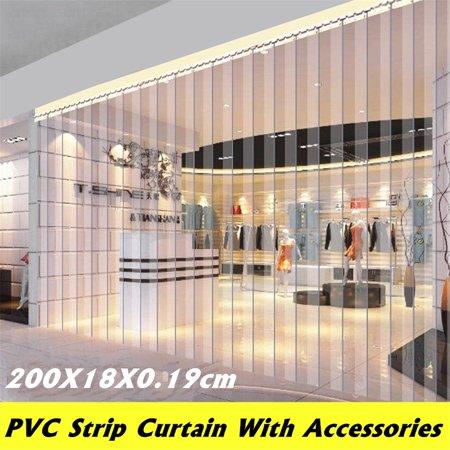 "1Pcs Freezer Room PVC Plastic Strip Curtain Door Strip Kit Hanging Rail 79""X7""X0.07"" - image 5 of 7"