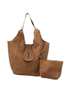 2aa618aadfc2 Product Image AllAsta Kamya Leather Hobo Purse Brown Shoulder Sling Style  Suede Handbag Tote