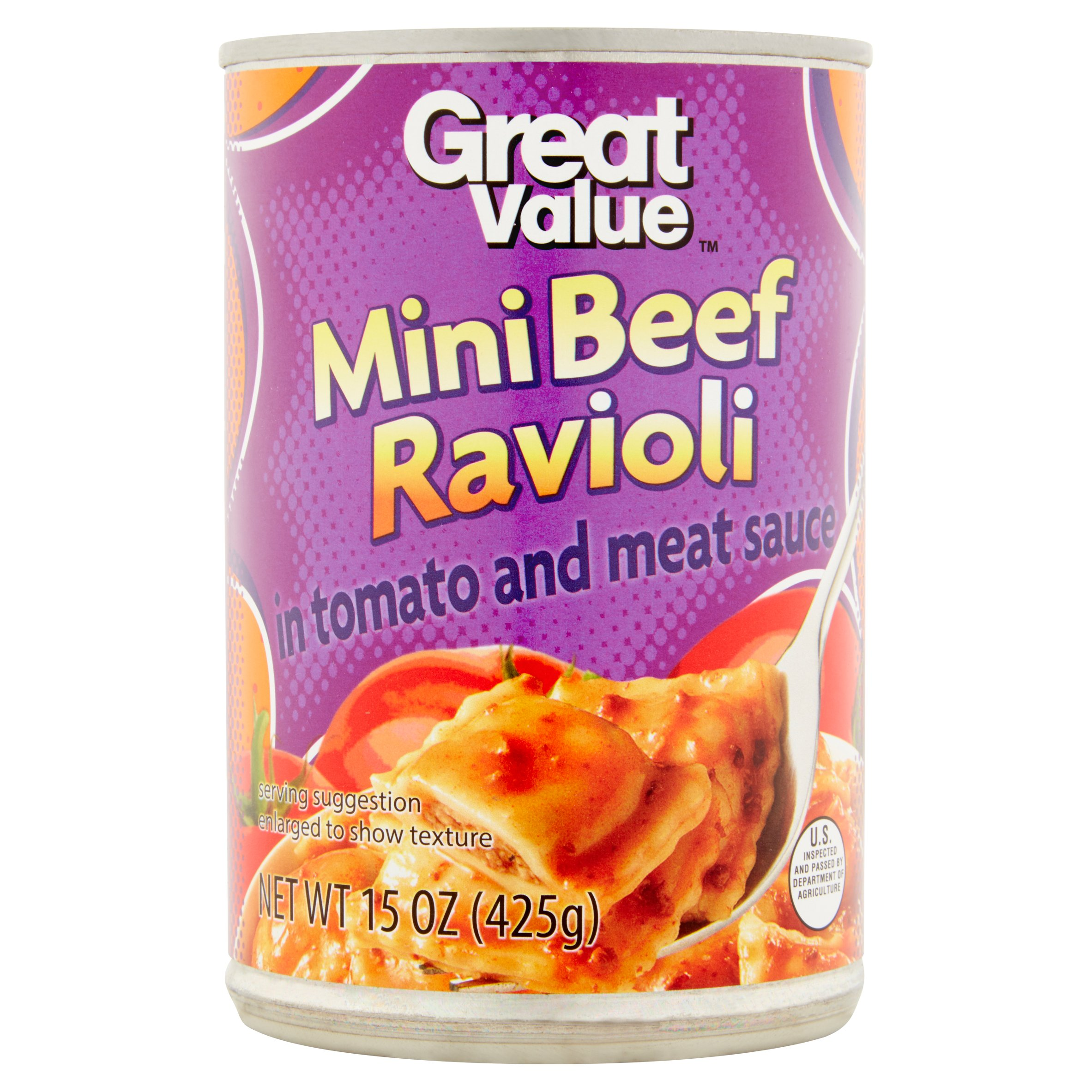 Great Value Mini Beef Ravioli, 15 oz by Wal-Mart Stores, Inc.