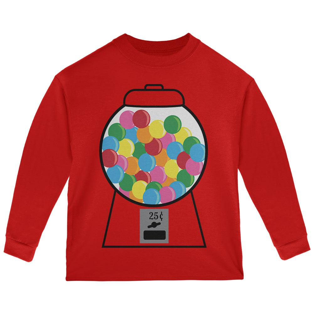 Candy Gumball Machine Costume Toddler Long Sleeve T Shirt