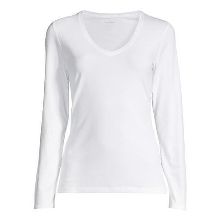 Long-Sleeve V-neck Top ()