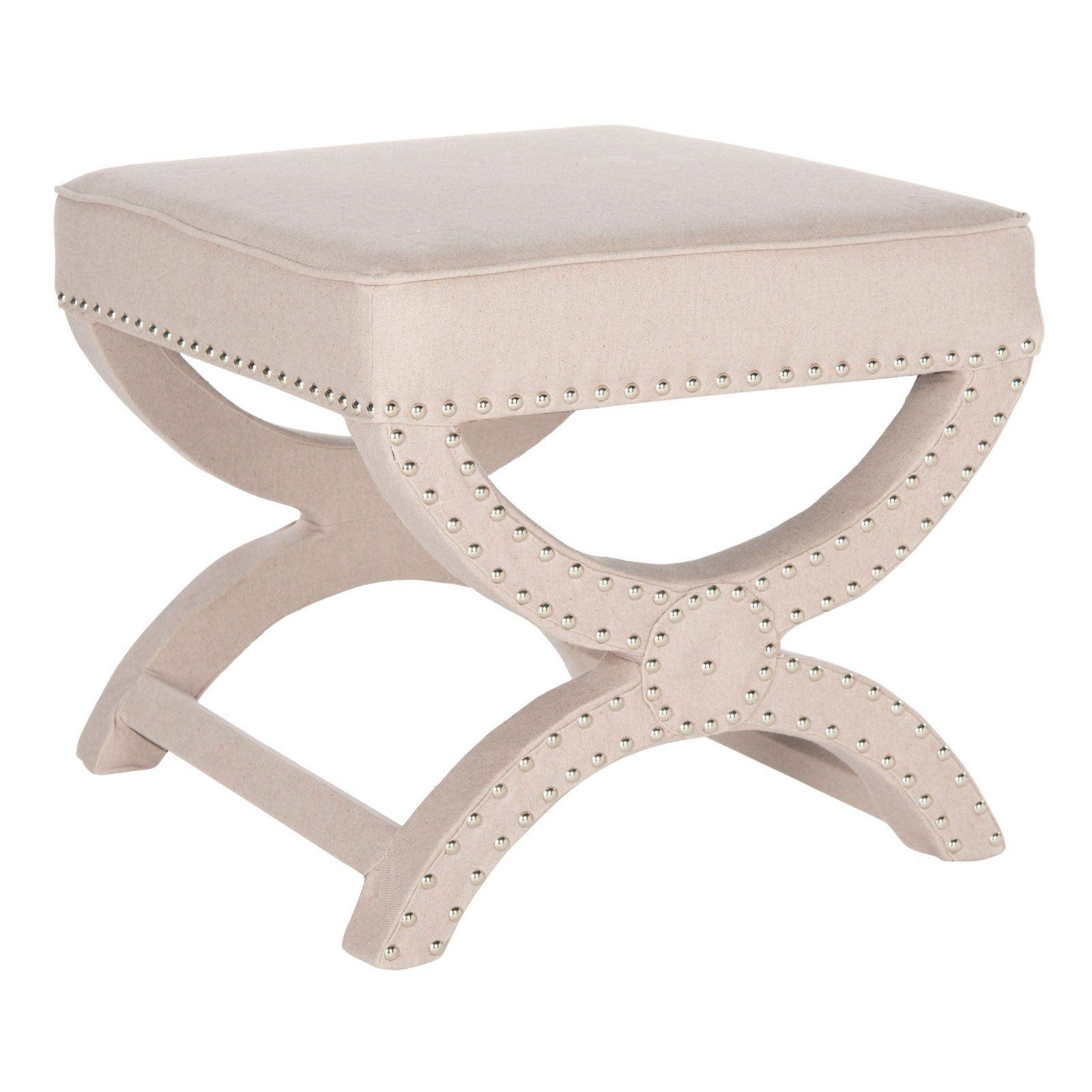 Safavieh Mystic Square Ottoman with Nailhead Trim