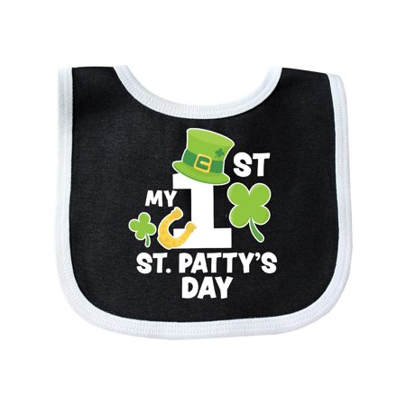 1st Birthday Hat And Bib (My 1st St Pattys Day with Shamrock Horseshoe and Hat Baby)