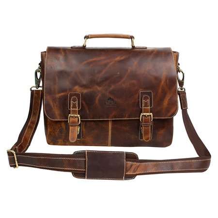 Rustic Town 15 Inch Leather Messenger Bag Cross Body Satchel Bag Gift Men  Women Laptop Bag - Walmart.com c86d41ac6e3b1