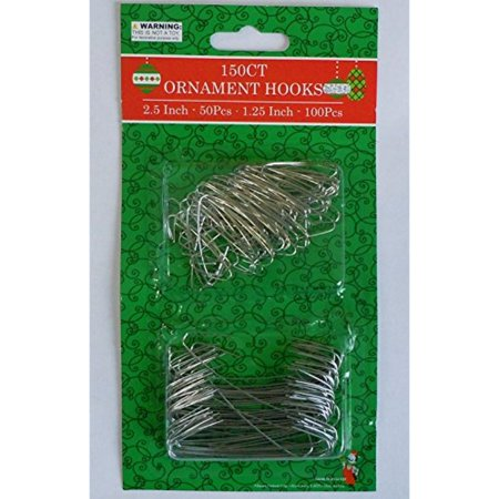 Silver and Green Ornament Hooks Pack Of 150 (150, Silver)