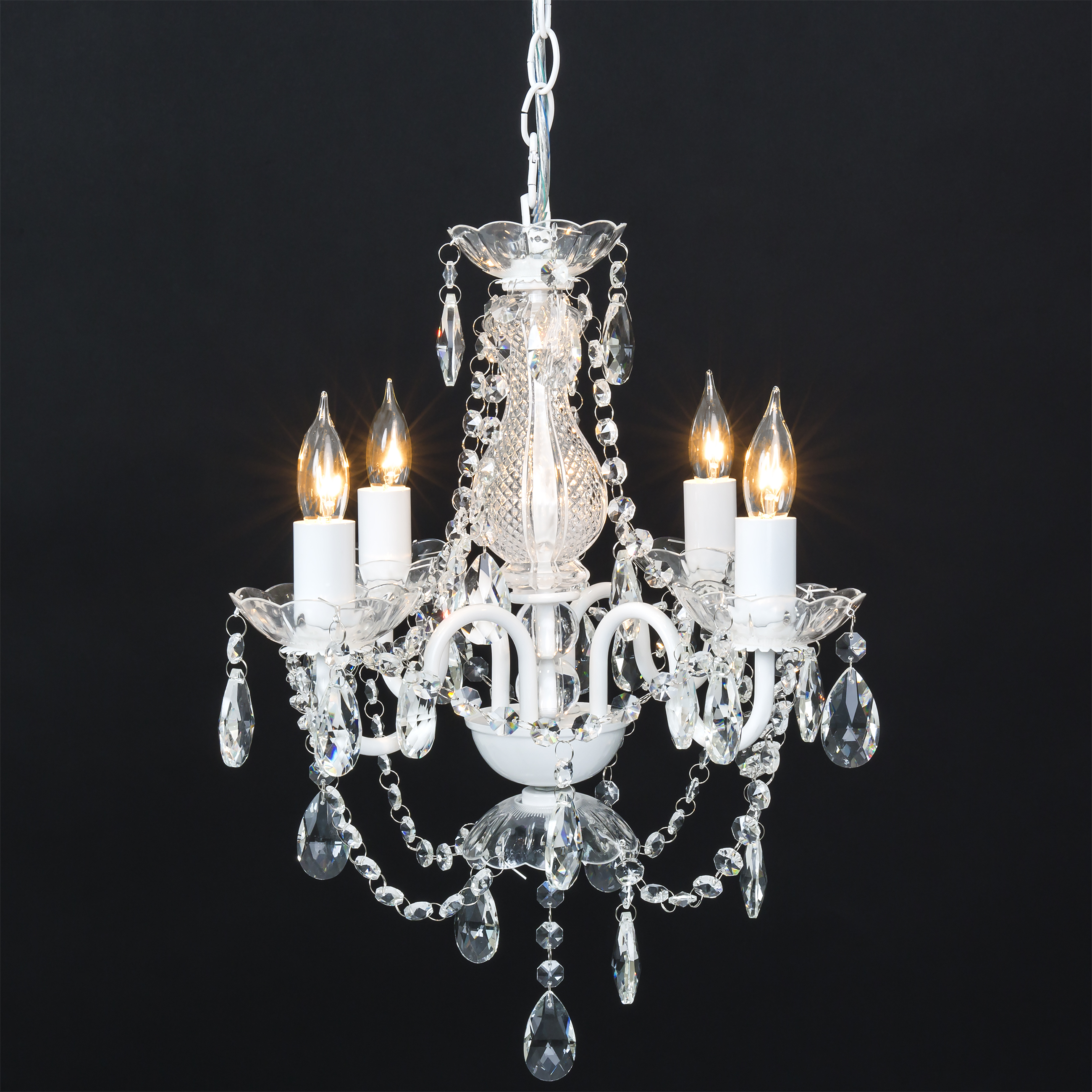 Click here to buy Best Choice Products Classic Shabby Chic Style Acrylic Crystal Chandelier w  Metal Frame for Dining Room, Foyer White by Best Choice Products.