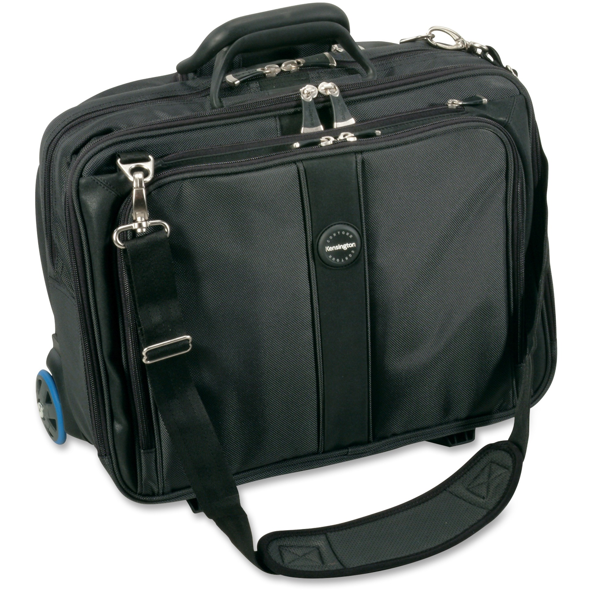 "Kensington Contour Carrying Case (Roller) for 17"" Notebook - Gray"