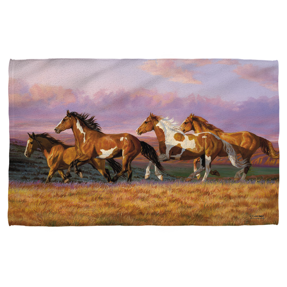 Wild Wings Sunset Cruise 2 Bath Towel White 27X52