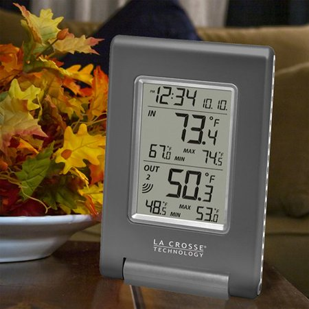 LaCrosse Technology Wireless Temperature Station with Atomic Time and Date ()