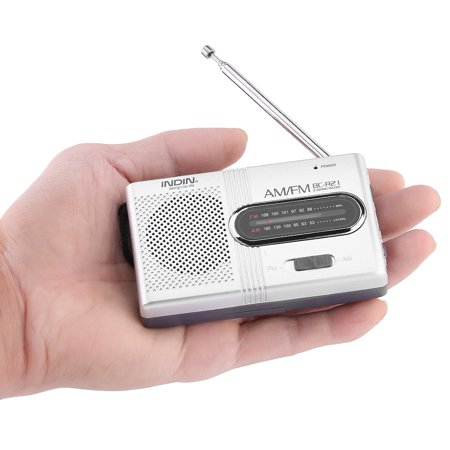 Ymiko Portable AM/FM Mini Radio Stereo Speakers Receiver Music Player, AM/FM Radio with Built-in Speaker,Portable Pocket Radio