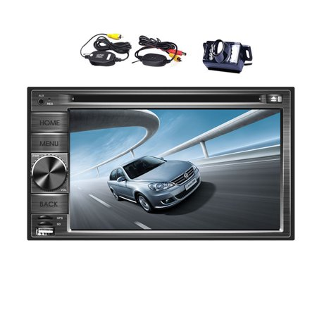 Double Din In Dash Car DVD Player GPS Navigation 2din auto radio 6 2 Inch  Touch Screen Car Stereo with SAT NAV Support Bluetooth/USB/SD/iPod+Wireless