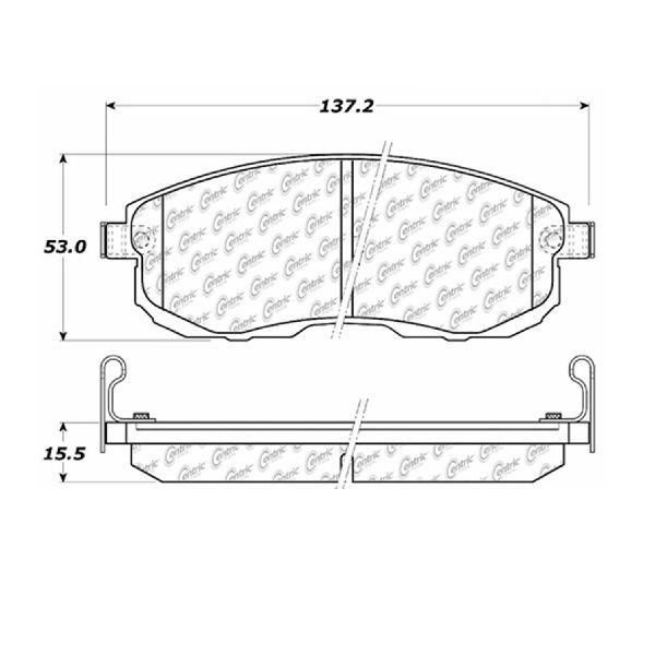 2011 2012 For Nissan Versa Front Semi Metallic Brake Pads