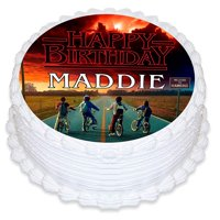 Stranger Things Edible Cake Image Topper Personalized Picture 8 Inches Round