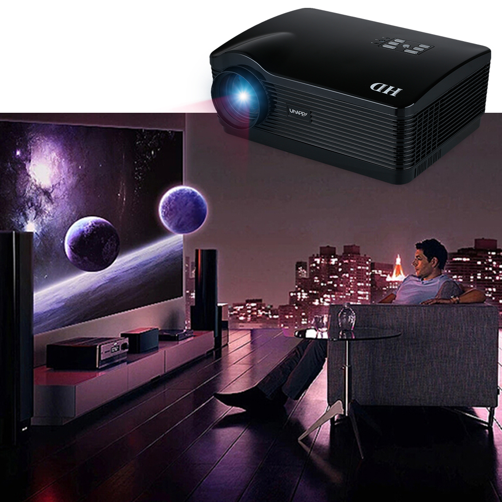 Uhappy HD Projector 720P Wireless WIFI Android HDMI/USB/S...