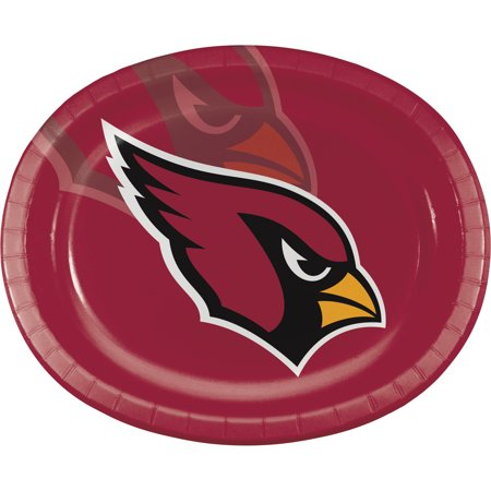 Arizona Cardinals Oval Plates, 8-Pack
