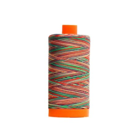 Aurifil Mako Cotton Quilting Thread 50 wt.#3817 Variegated Marrakesh 1420 yd. Variegated Cotton Quilting Thread