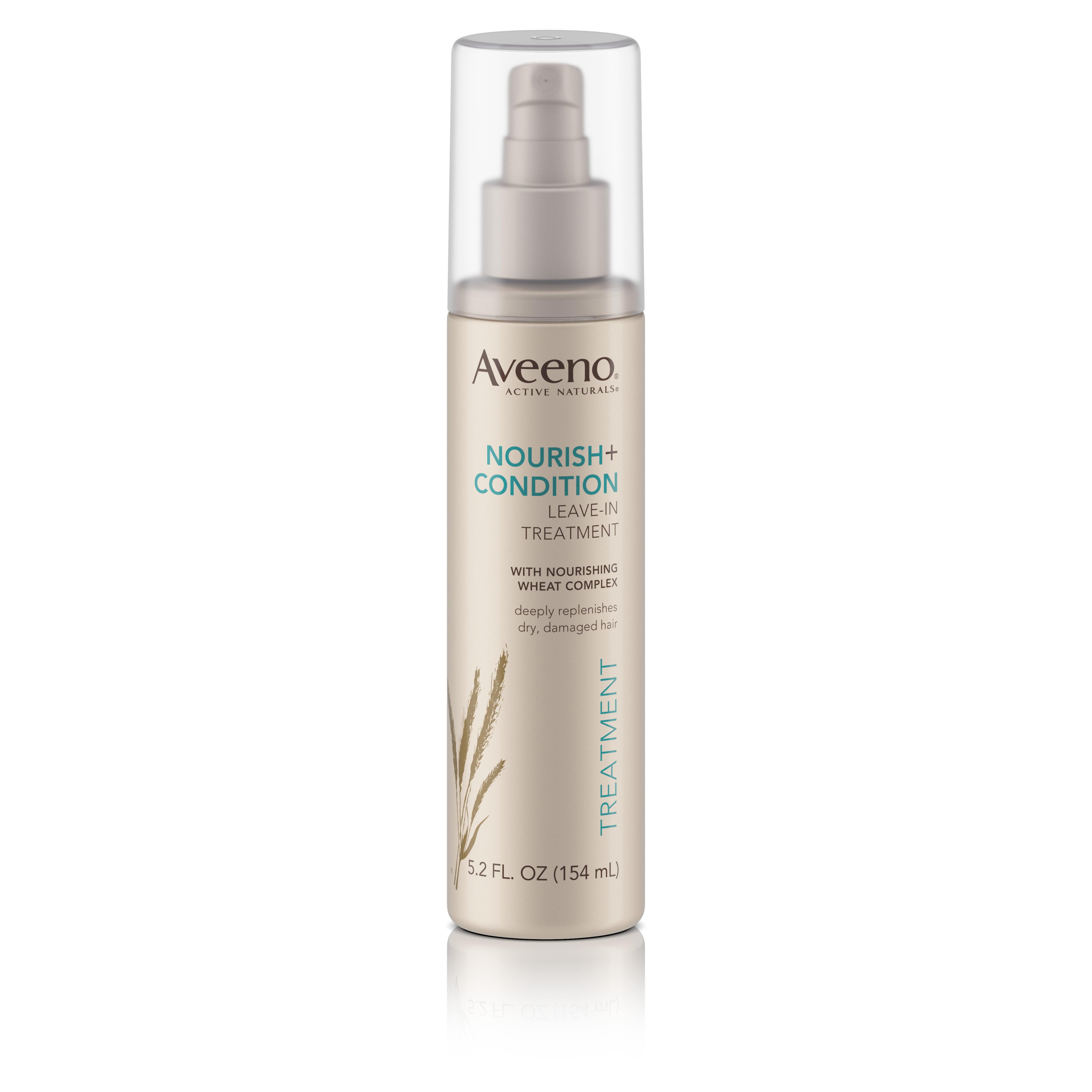 Aveeno Nourish+ Condition Leave-In Treatment, Replenish Damaged Hair, 5.2 Fl. Oz - Walmart.com