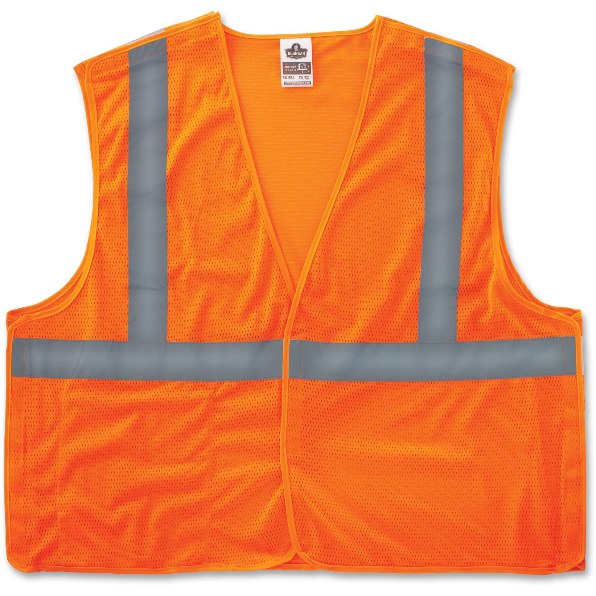 GloWear, EGO21063, Orange Econo Breakaway Vest, 1 / Each, Orange