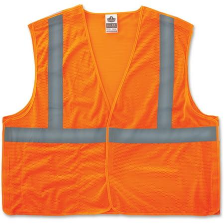 Glowear Public Safety Vest (GloWear, EGO21063, Orange Econo Breakaway Vest, 1 / Each, Orange )