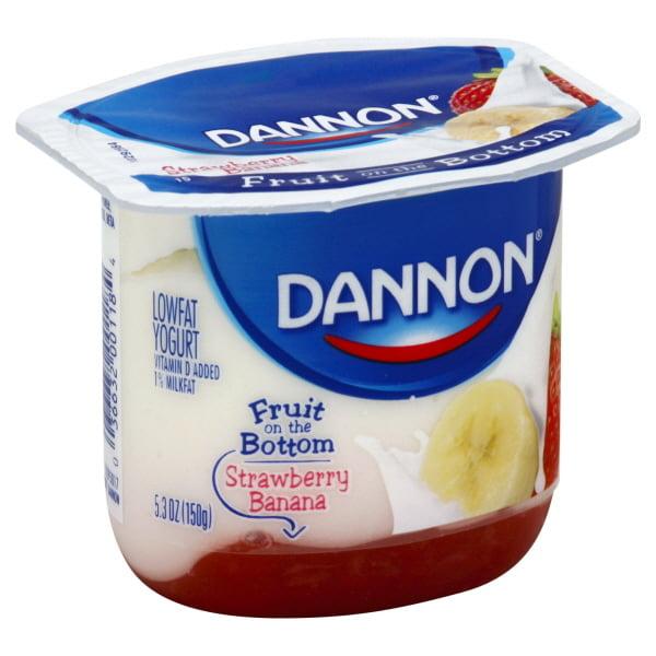 Bottom Lowfat Yogurt Strawberry Banana